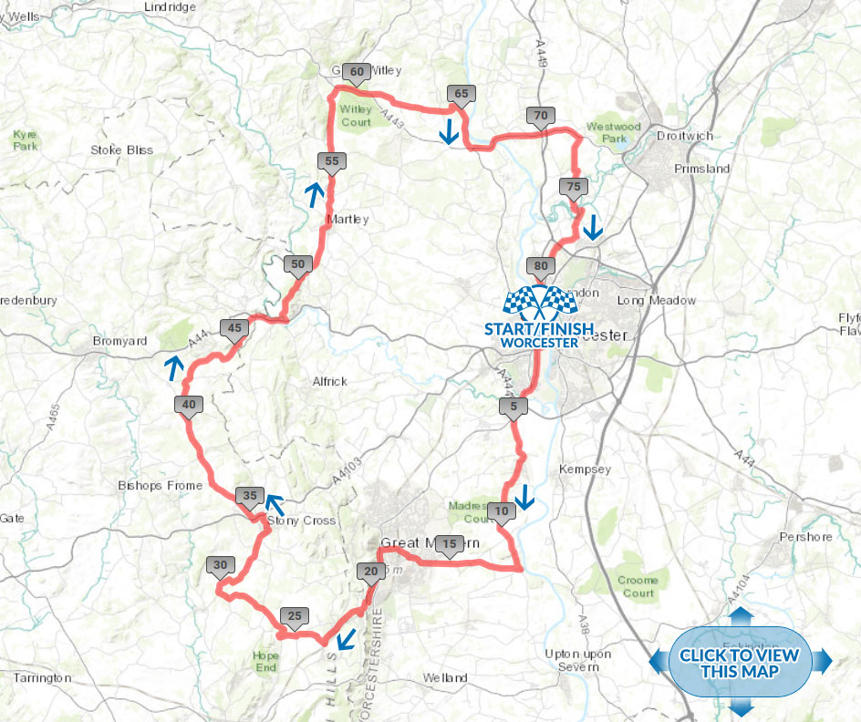 Tour of Worcester cycle sportive Canter Route