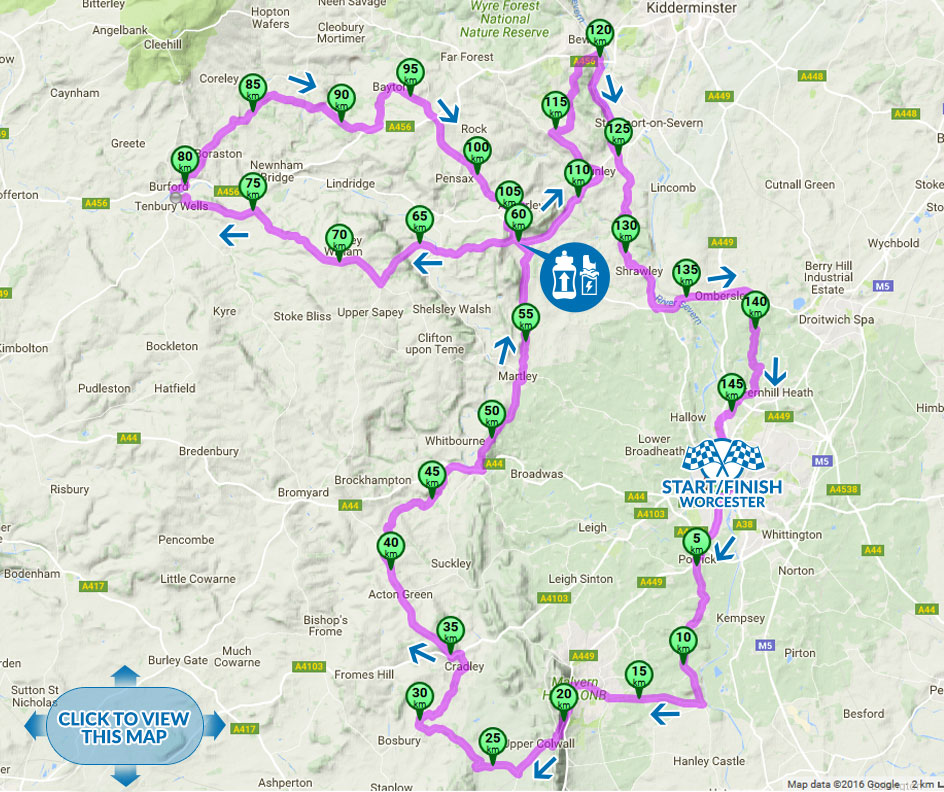 Tour of Worcester cycle sportive Long Route