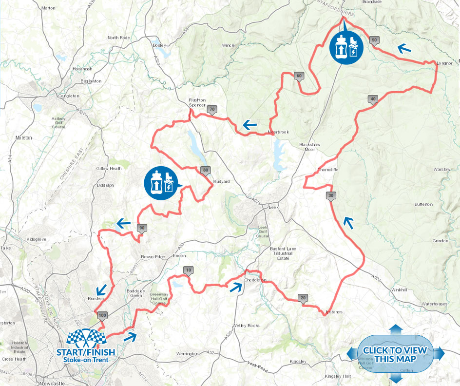 Tour of the Potteries cycle sportive Long Route