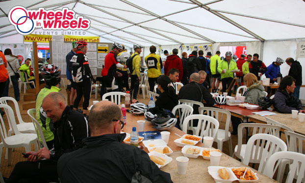 forest of dean spring classic cycling after ride hot meal