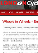 Entries open for 2011 events - Londoncyclesport